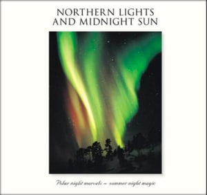 Northern lights and midnight sun