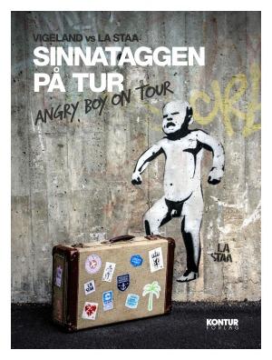 Sinnataggen på tur. Angry boy on tour. 12 postkort