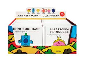 Lille Herr Mann og Lille Frøken. Minibok. Display