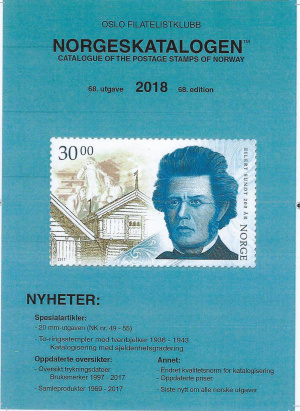 Norgeskatalogen 2018 = Specialised catalogue of the postage stamps of Norway 2018