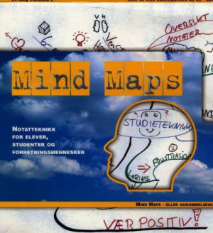 Mind maps. Notatteknikk for elever, studenter og forretningsmennesker. 1 tegneblokk. 7 penner i forskjellige farger