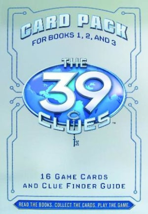 The 39 clues. Card pack for books 1, 2 and 3. 16 game cards and clue finder guide