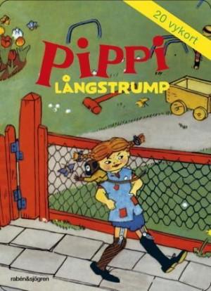 Pippi Langstrømpe. Postkortbok. Bok med 20 postkort