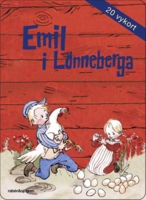 Emil fra Lønneberget. Postkortbok. Bok med 20 postkort
