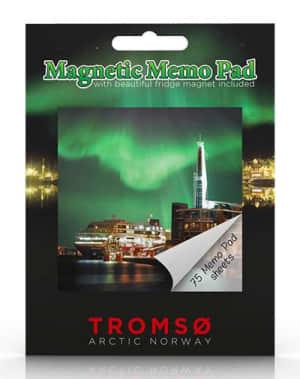 Tromsø. Magnetisk memoblokk. Arctic Norway Tromsø