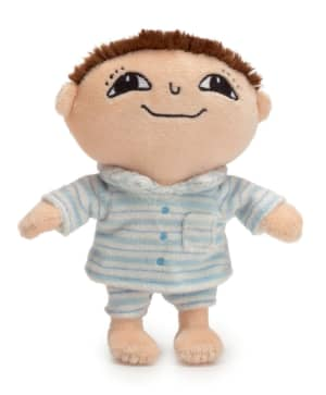 Albert dukke med pyjamas 16 cm