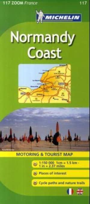 Normandy coast = Normandie côtière : carte routière et touristique