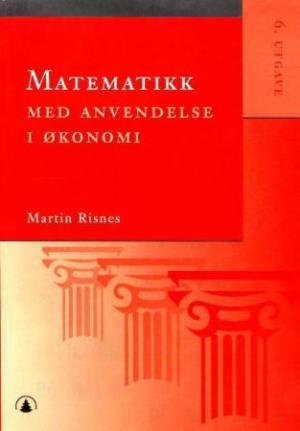 Matematikk med anvendelse i økonomi