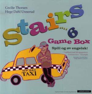 Stairs 6. Game box. Spill og øv engelsk for 5-7. trinn. Med spillbrett, spillebrikker, terninger, oppgavekort og bokstavkort