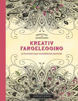 Kreativ fargelegging. 24 postkort med inspirerende mønstre. Kreativitet og mindfullness