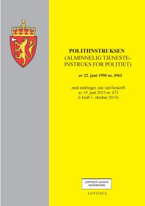 Politiinstruksen (alminnelig tjenesteinstruks for politiet) av 22. juni 1990 nr. 3963