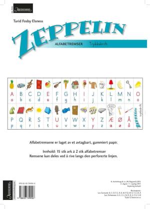 Zeppelin 1-4. Alfabetremser. Trykkskrift. Farger. Norsk for barnetrinnet