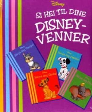 Display med 4 Disneytitler. Strapbooks. 24 bøker. 4 forskjellige titler. Si hei til dine Disneyvenner
