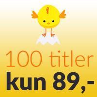 100 titler, kun 89,-