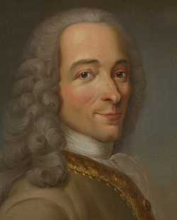 Portrettmaleri av Voltaire