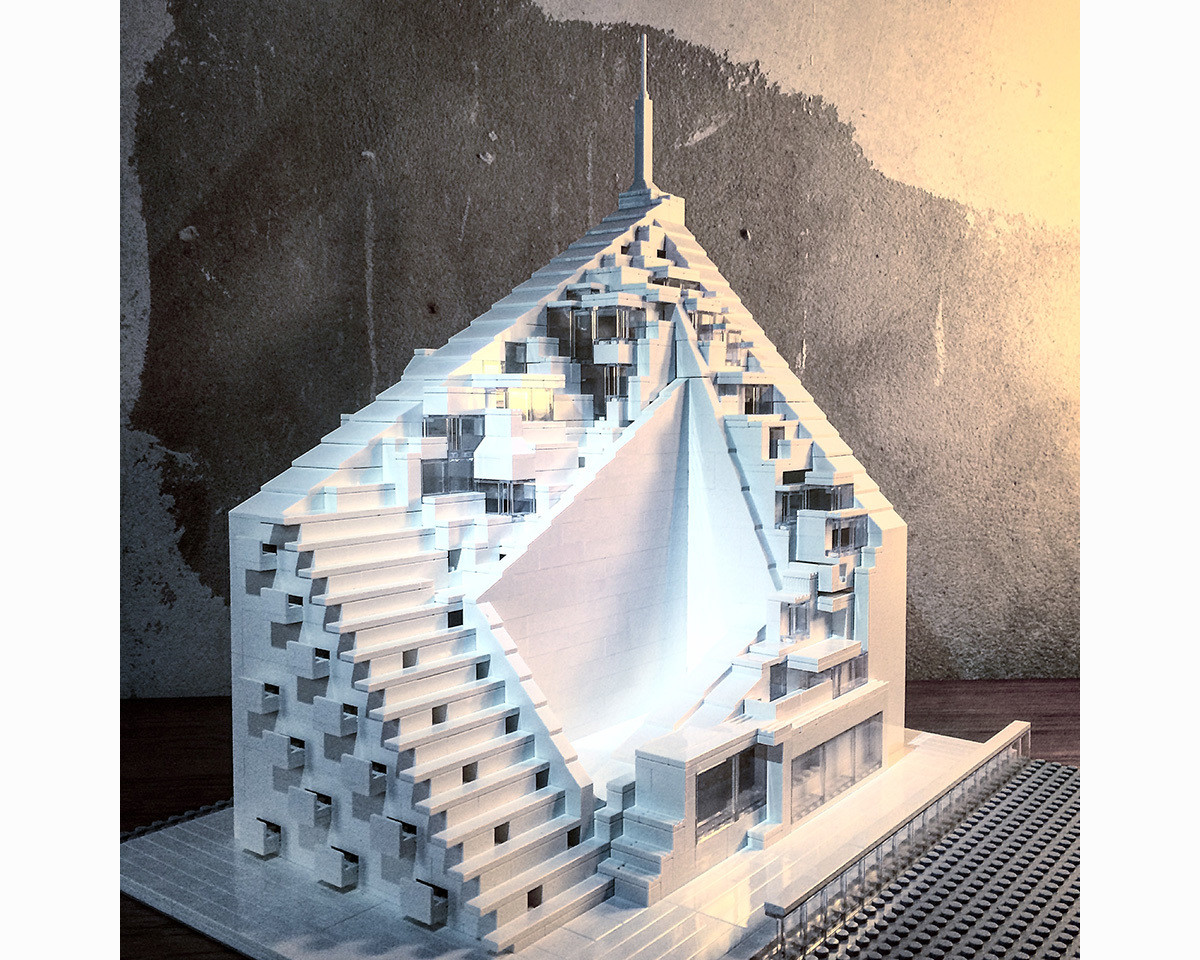 arndt schlaudraff builds intricate brutalist architecture with lego