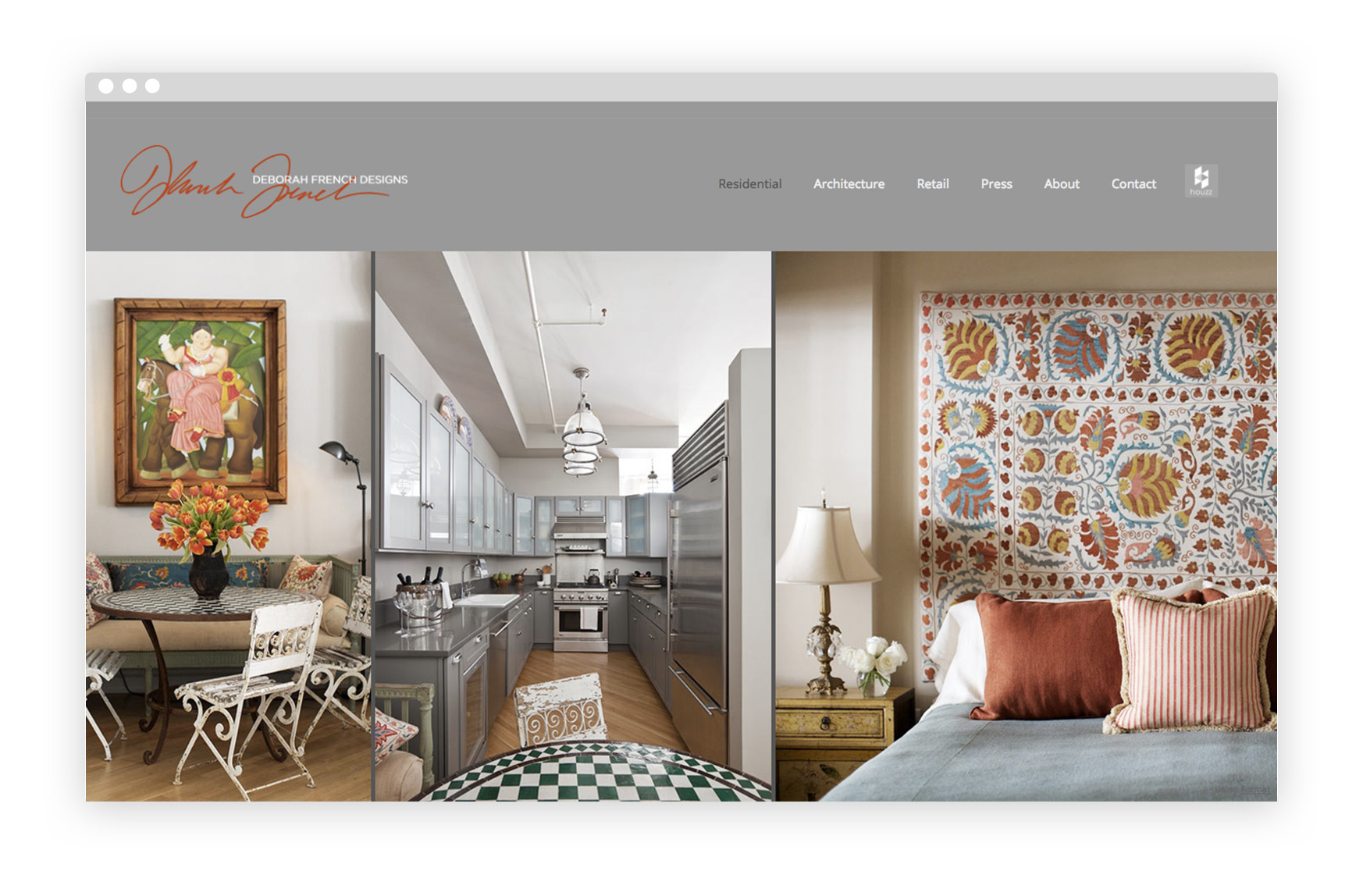 12 interior design portfolio website examples we love for Interior design portfolio examples
