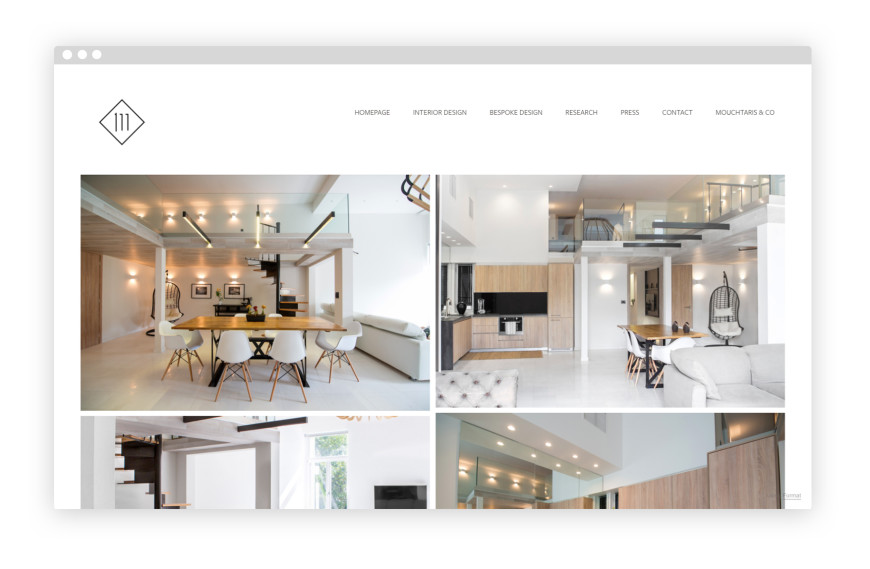 Interior design portfolio website for Websites for interior designers