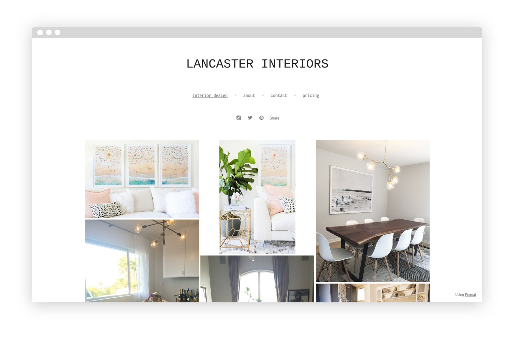 12 interior design portfolio website examples we love for Interior design portfolio
