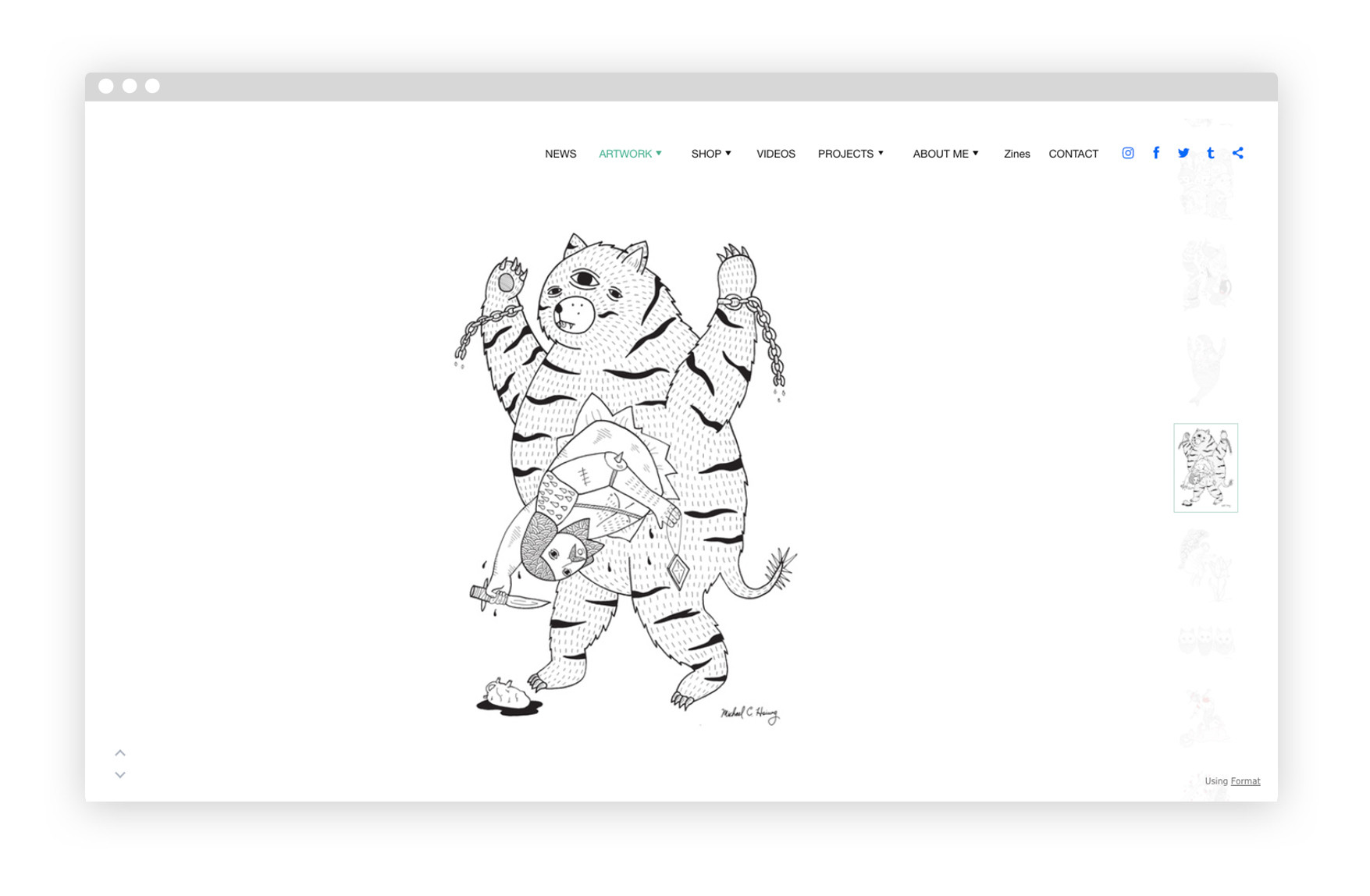 220d0b278 Click through and you ll find more of his portrait-style abstract  illustration work