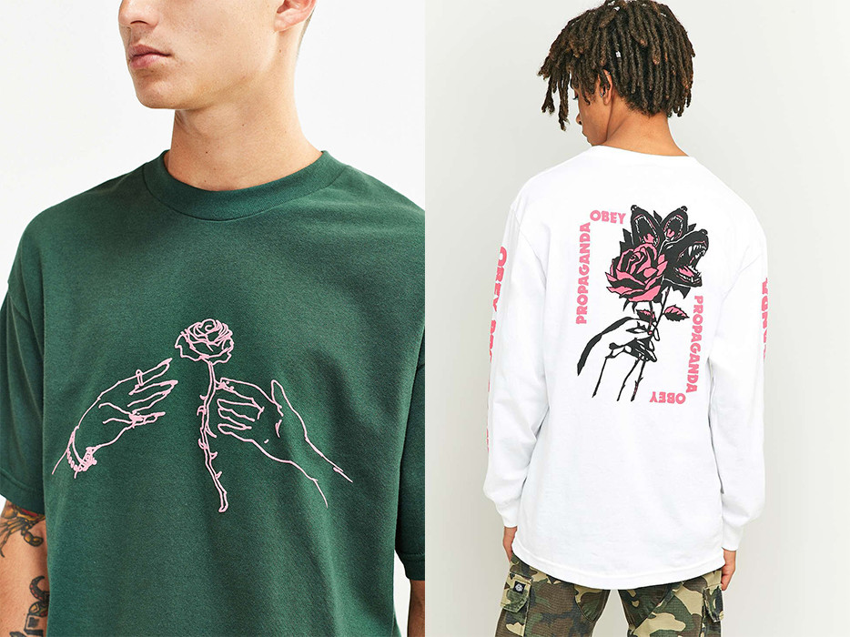 bcff55625 ... on everything from enamel pins and patches to socks and t-shirts. Roses  have flooded the fast fashion market, with similar styles found in H&M,  Topshop, ...