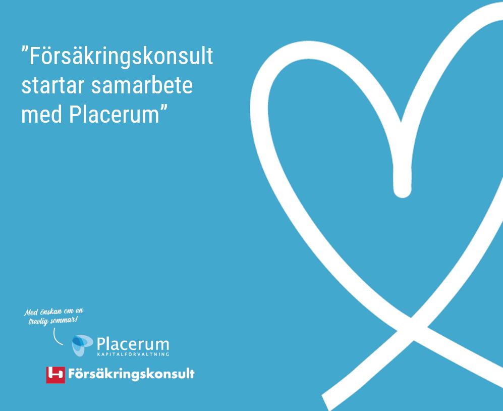 Nytt samarbete med Placerum inom Liv och Pension, Försäkringskonsult