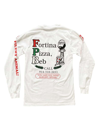 t-shirt, front: Fortina Pizza, Beb!