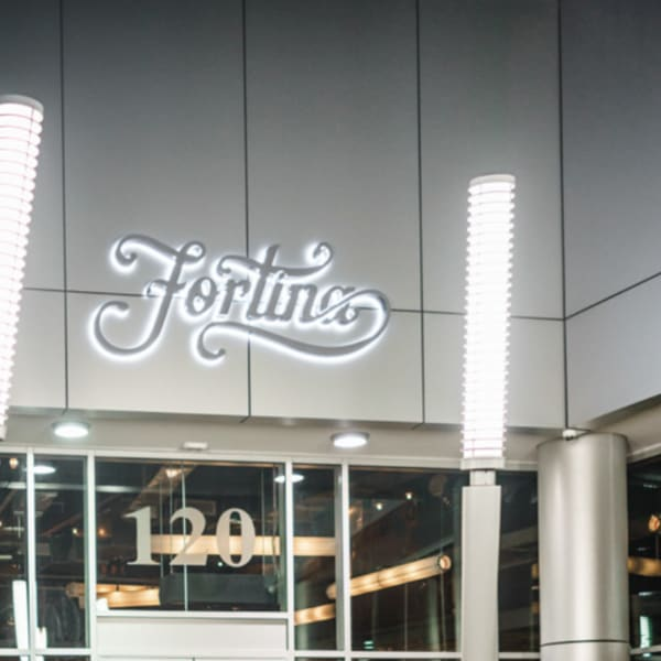 Fortina, Stamford: Exterior shot at night