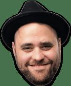 Christian in black hat.