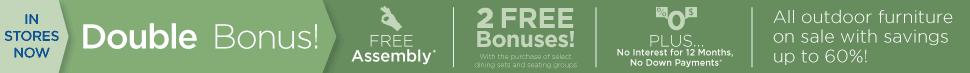 Fortunoff Double Bonus Outdoor Patio Furniture Sale