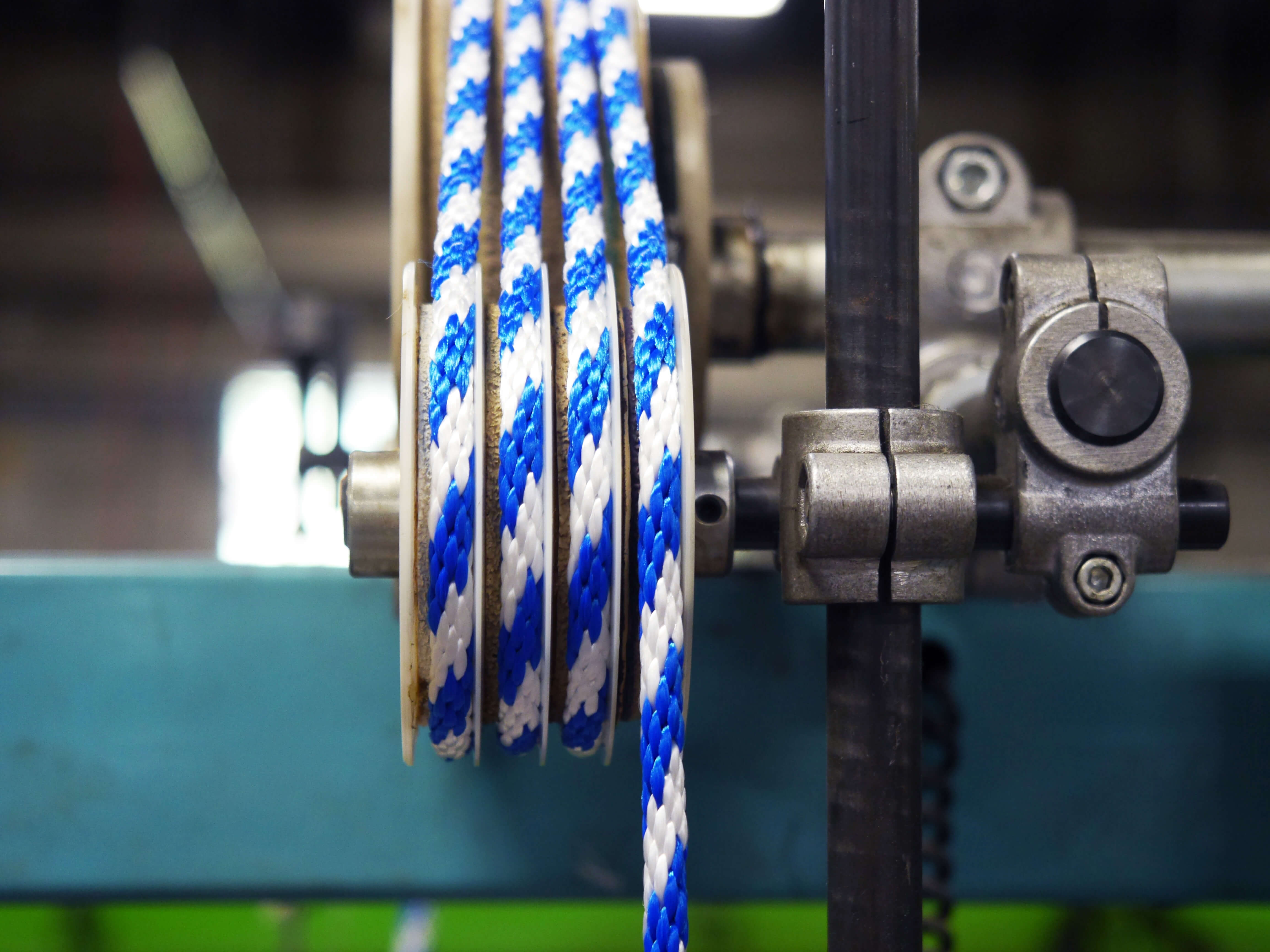 Closeup of rope on machinery