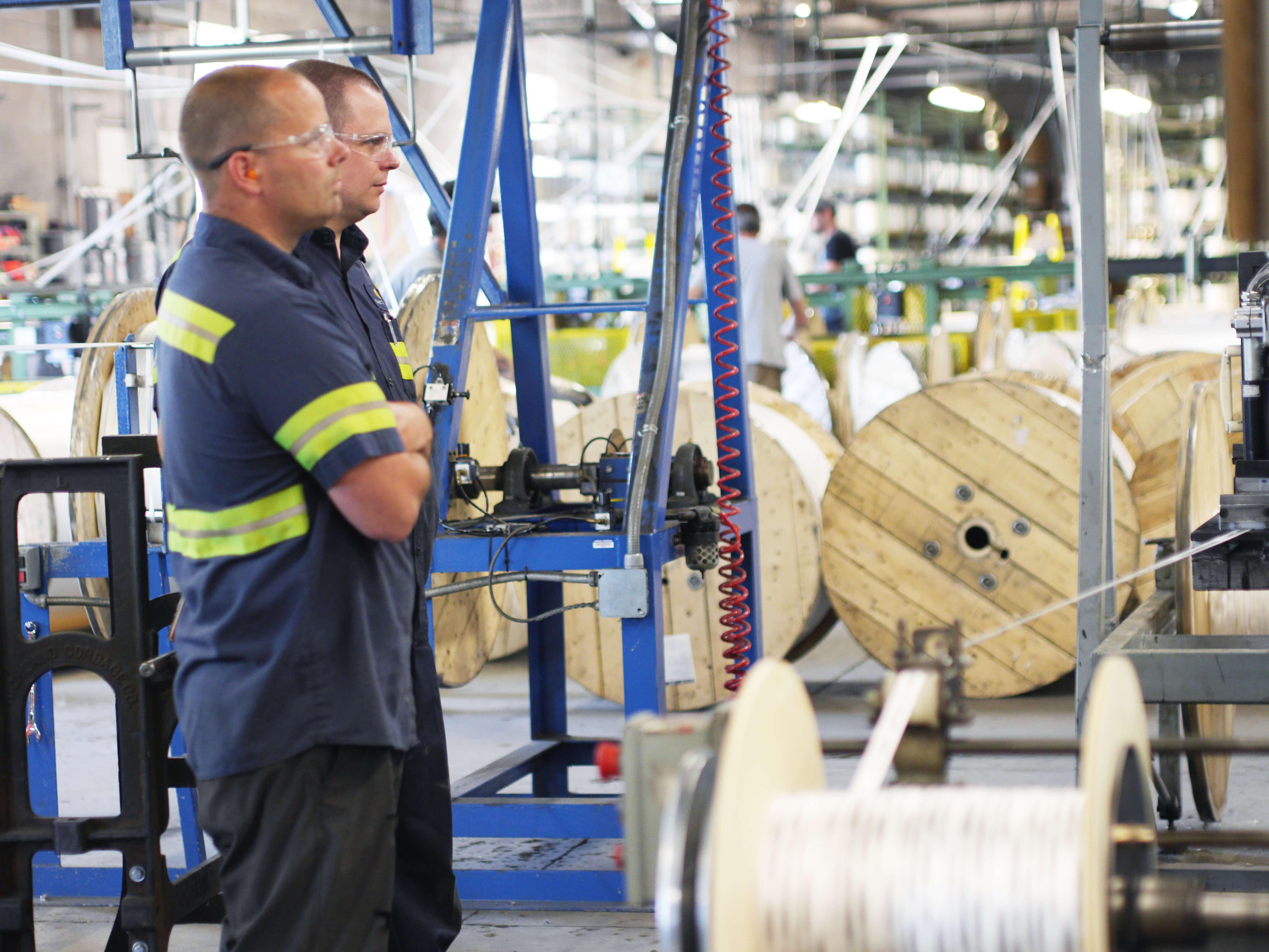 Orion Cordage team members in rope warehouse