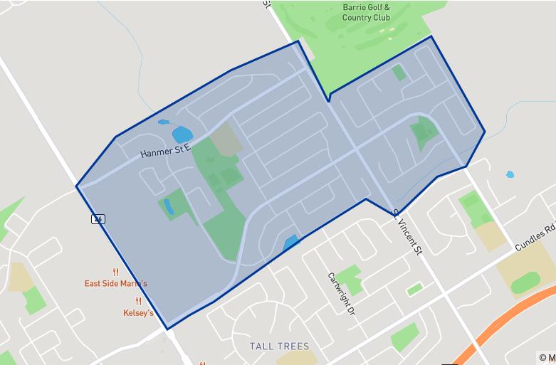 Terry Fox Elementary School neighbourhood borders
