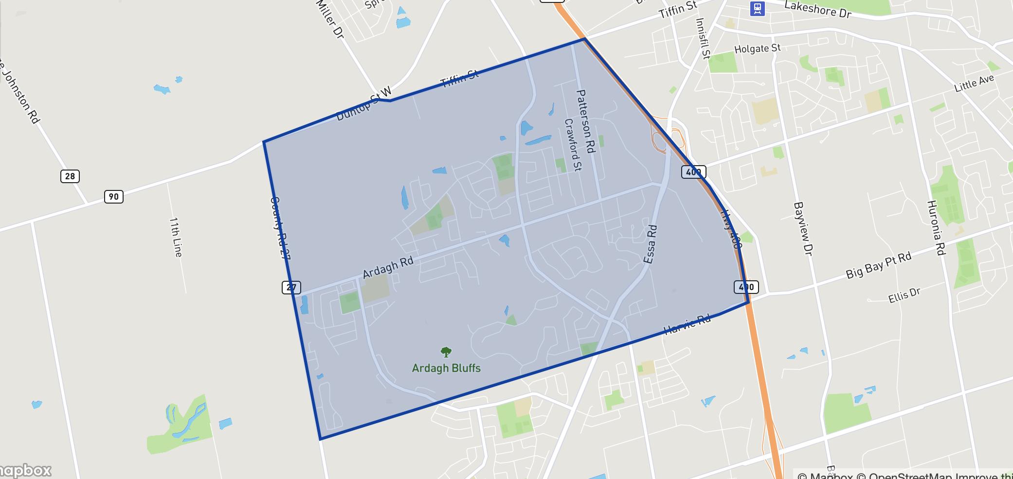 Ardagh neighbourhood borders