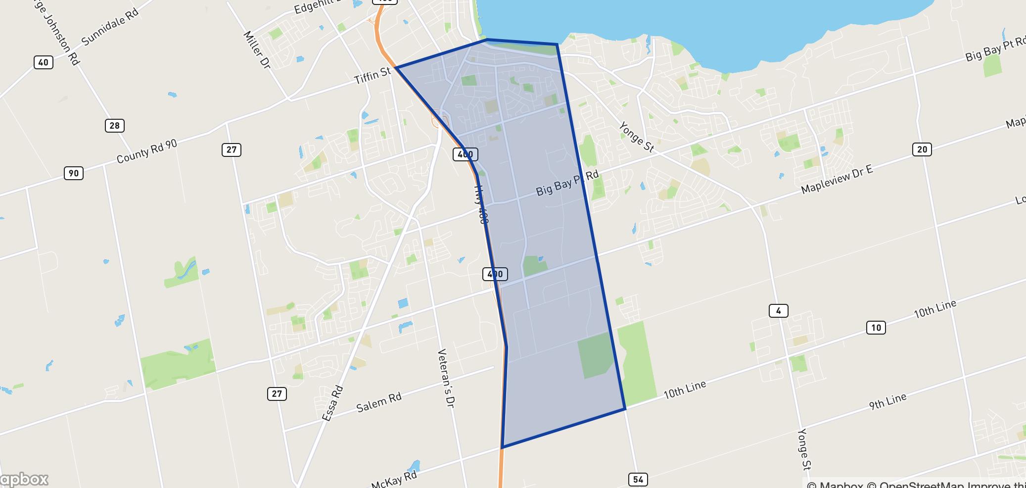 Allandale neighbourhood borders