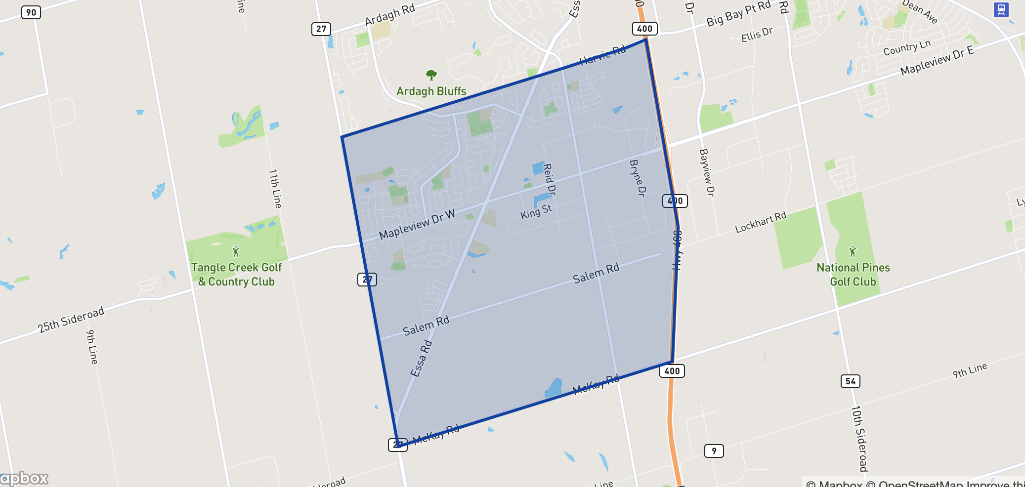 Holly neighbourhood borders