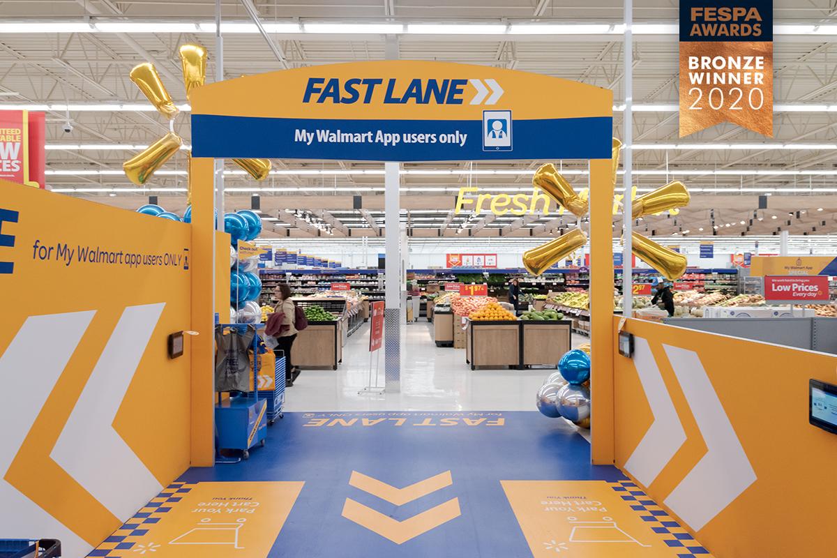Walmart Canada Retail Brand Experience FESPA Bronze 2020