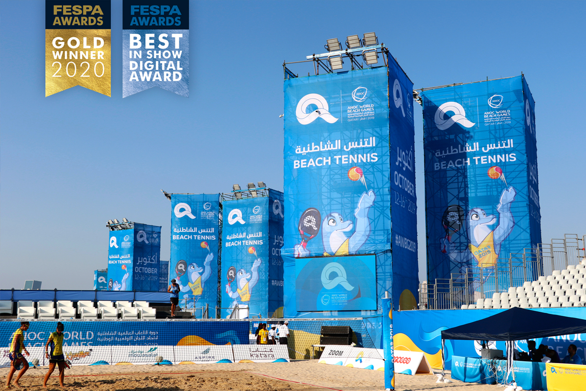 ANOC World Beach Games 2019 FESPA Gold Best In Show 2020
