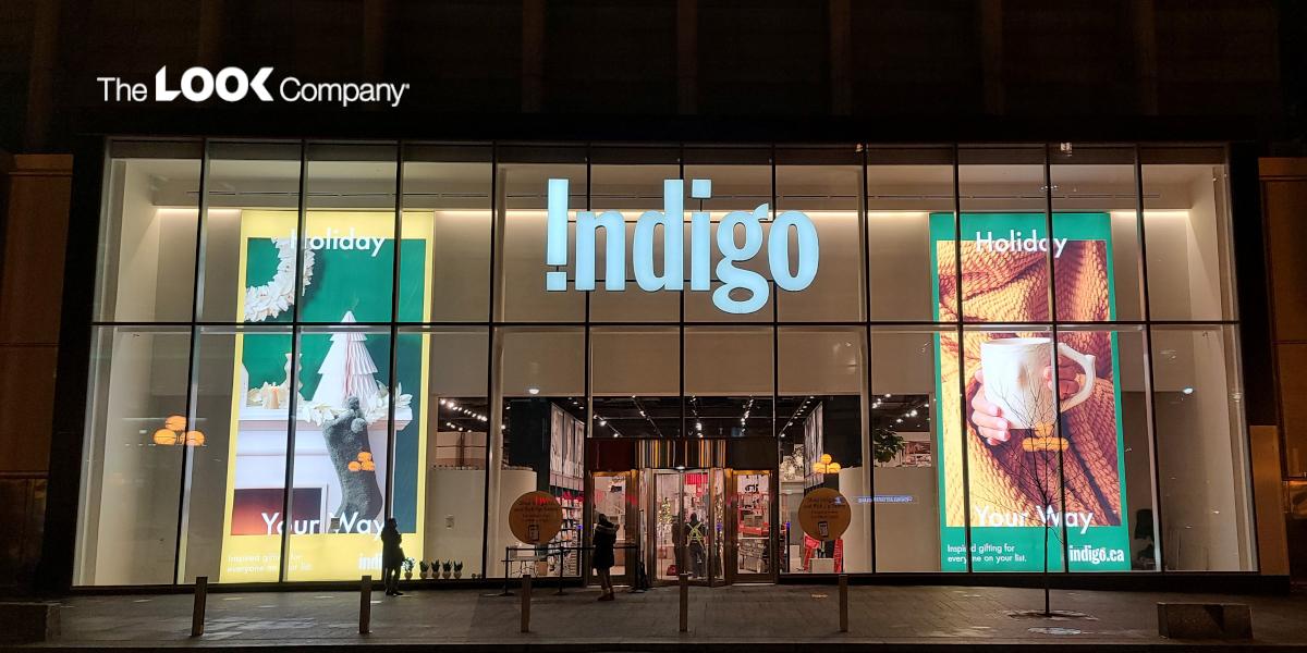 Indigo Large Lightbox window display