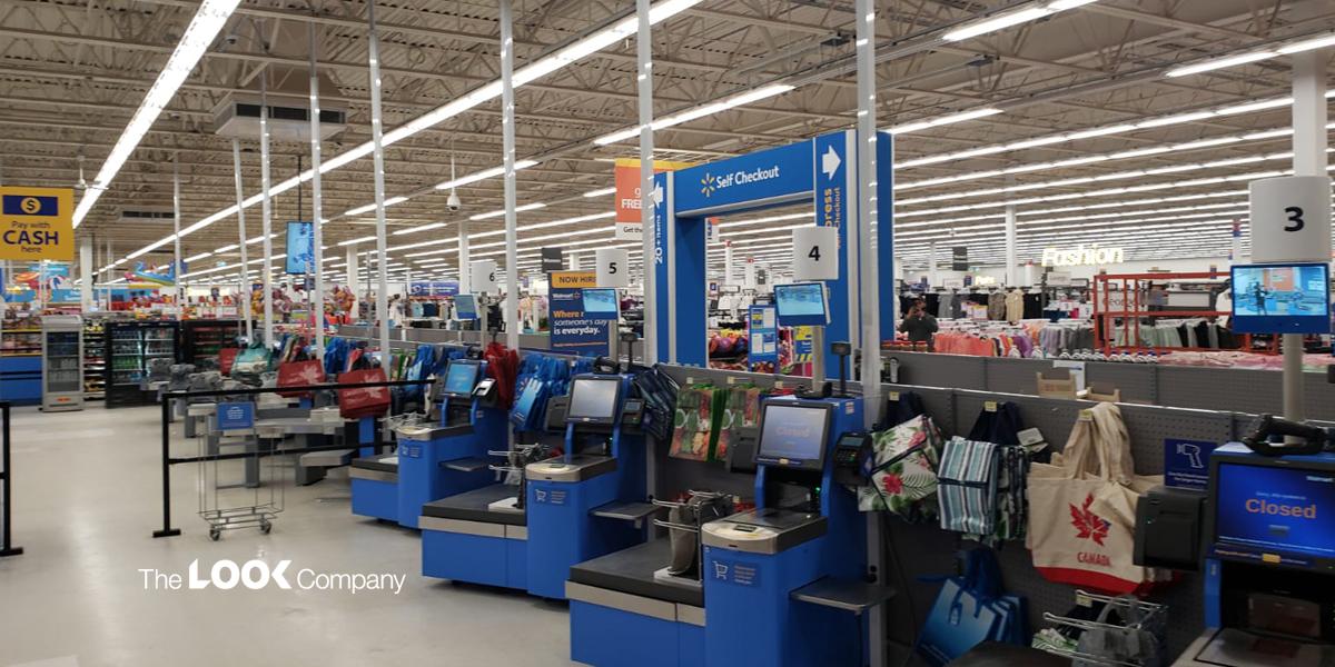 Walmart self checkout visual engagement solution