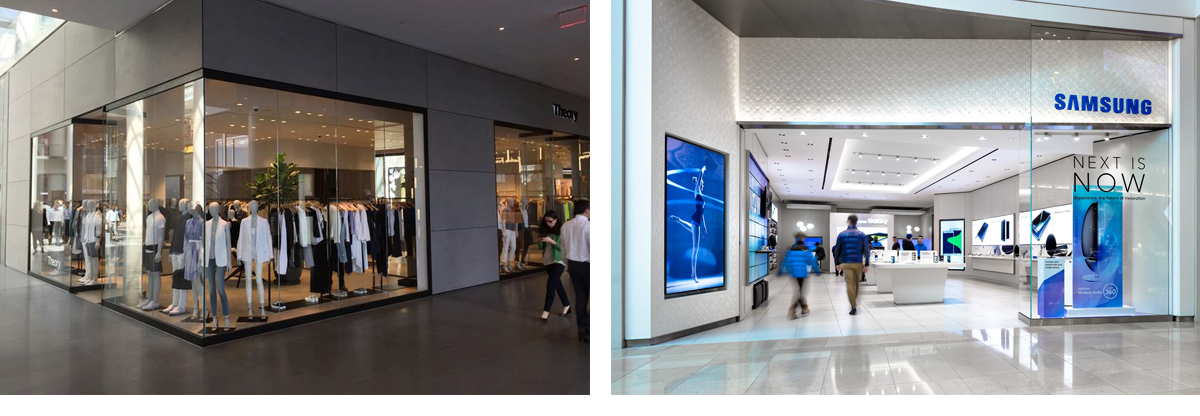 Lightboxes in Retail Environment Storefront