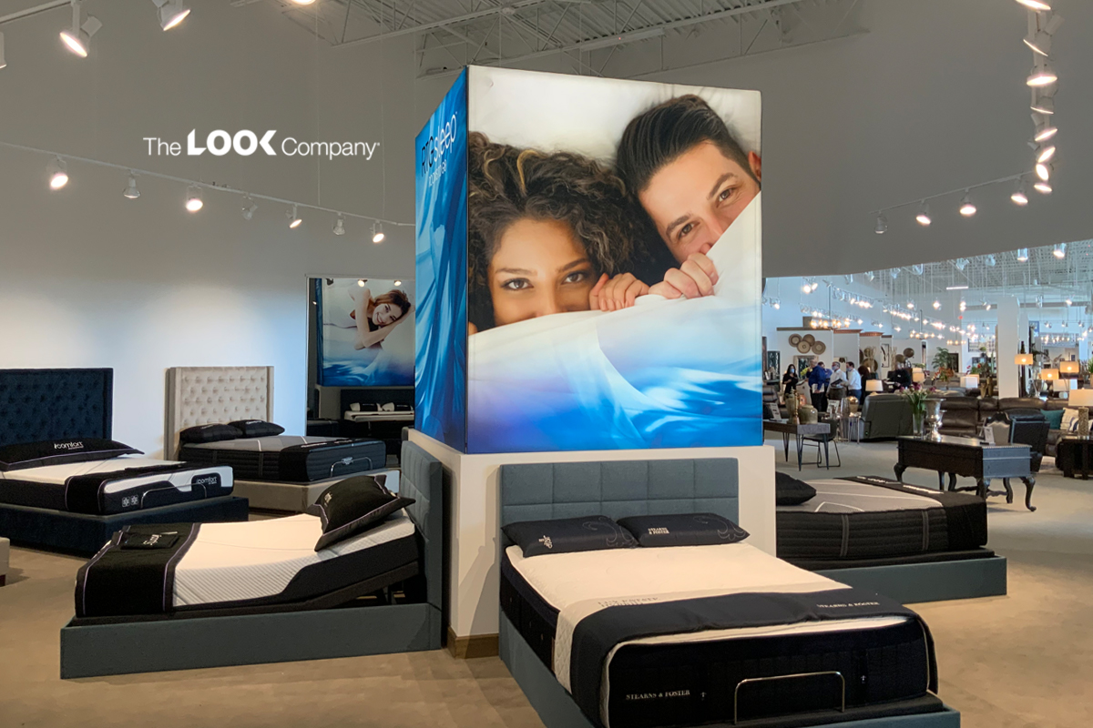 Furniture Showroom Retail Merchandising Design Lightbox Cube