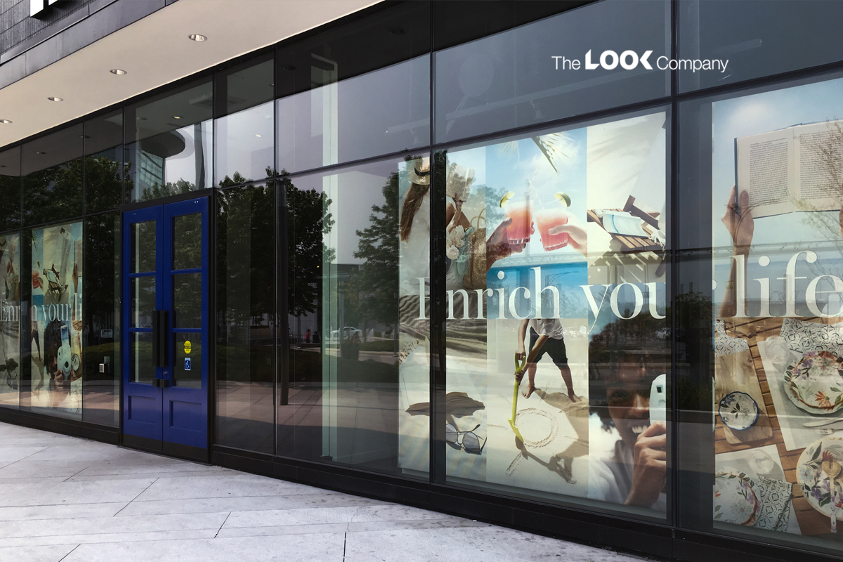 micro fulfilment centers window branding displays for retail