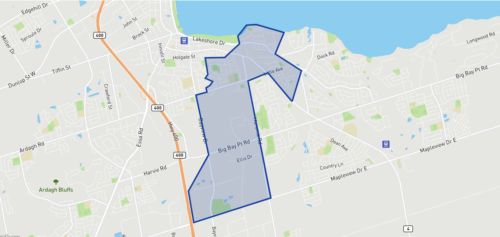 Assikinack Public School neighbourhood borders
