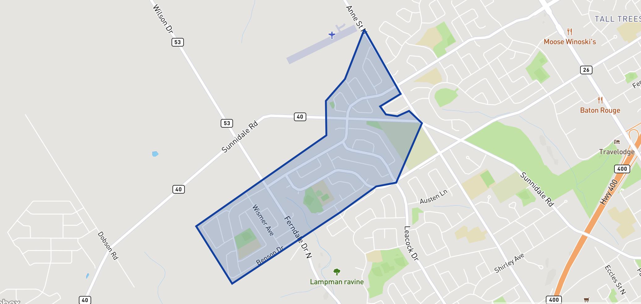 Emma King Elementary School neighbourhood borders