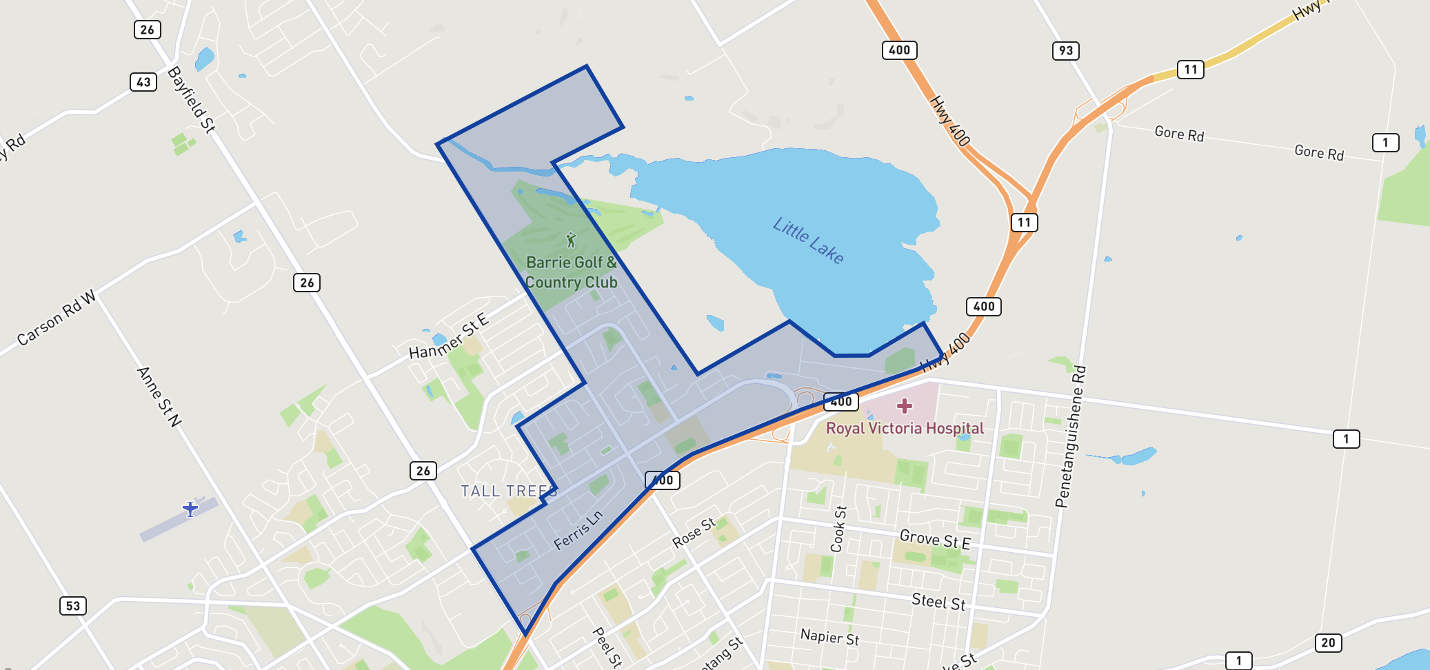 Monsignor Clair Separate School neighbourhood borders