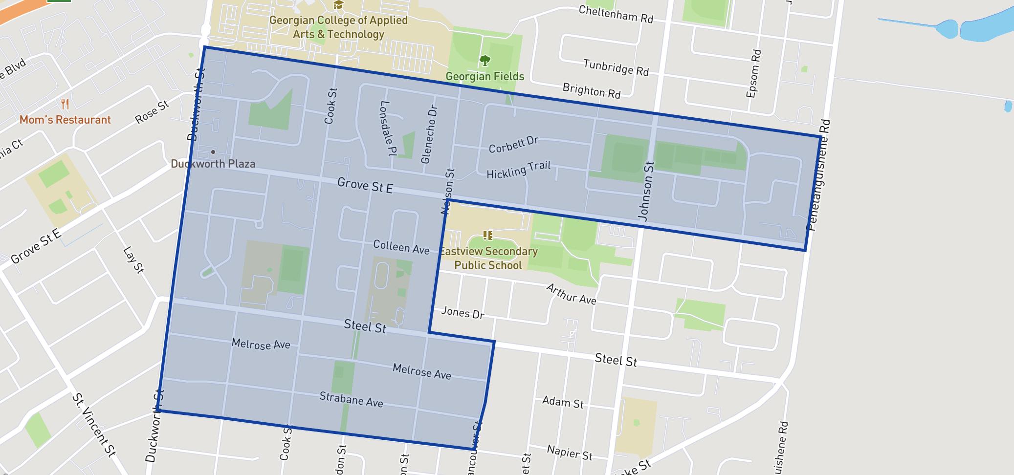 Steele Street Public School  neighbourhood borders