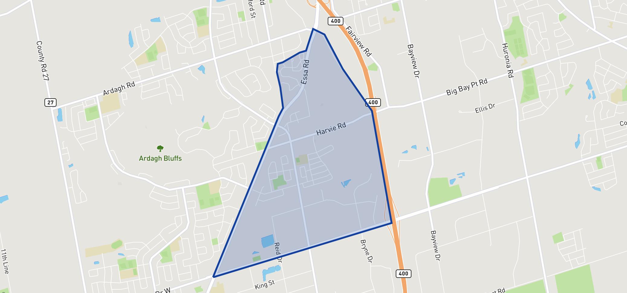 Trillium Woods Elementary School neighbourhood borders
