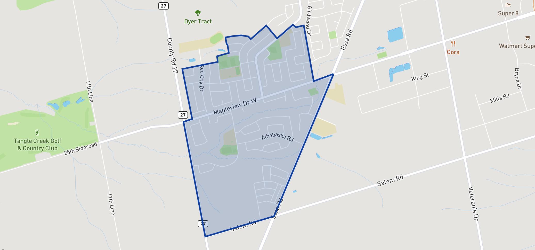 W.C. Little Elementary School neighbourhood borders