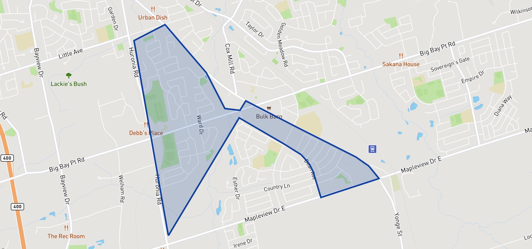 Willow Landing Elementary School  neighbourhood borders